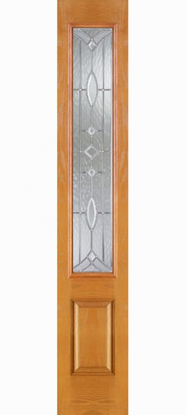 Oak Grain 3/4 Lite Sidelite with Aurora glass