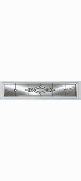 Smooth White Rectangle Transom with Brentwood glass