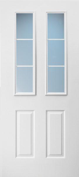 2 Panel Twin 1/2 Lite Colonial 3L