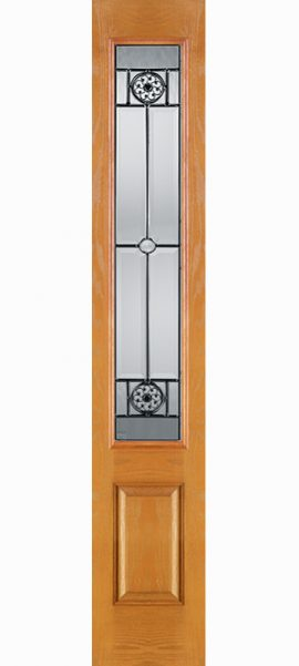 Oak Grain 3/4 Lite Sidelite with Elan glass