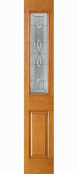 Oak Grain 1/2 Lite Sidelite with Laurel glass
