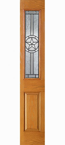 Oak Grain 1/2 Sidelite with Radiant Star glass