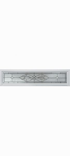 Smooth White Rectangle Transom with Windsor glass