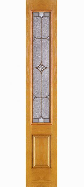 Oak Grain 1 Panel 3/4 Lite Sidelite with Astrid glass