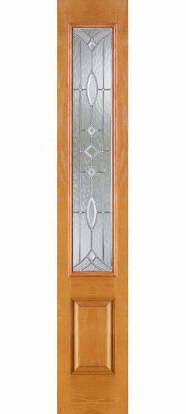 Oak Grain 3/4 Lite Sidelite with Aurora glass