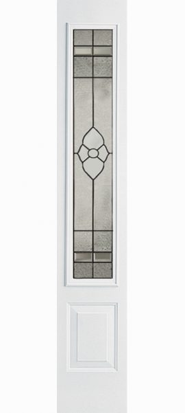 Smooth White 3/4 Lite Sidelite with Dynasty glass