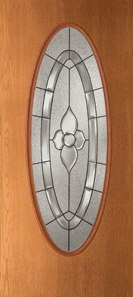Oak Grain Full Oval with Dynasty glass