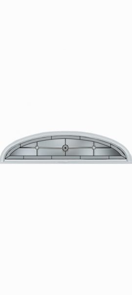 Smooth White Ellipse Transom with Elan glass