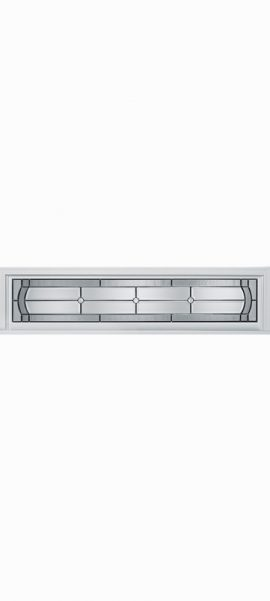 Smooth White Rectangle Transom with Elan glass