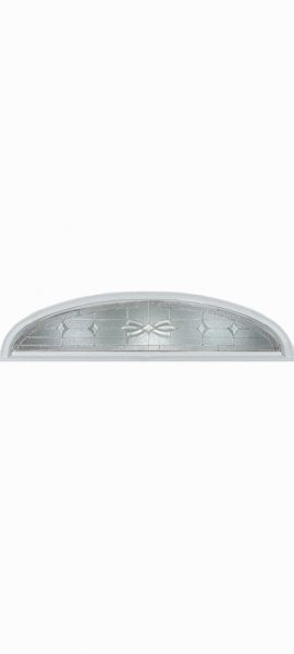 Smooth White Ellipse Transom with Laurel glass