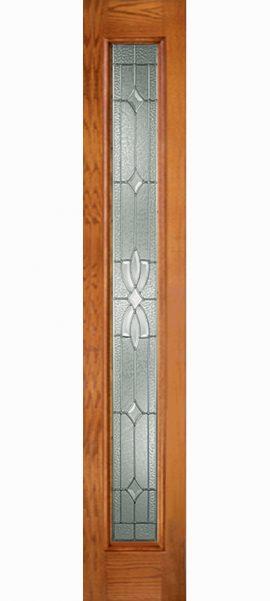 Oak Grain Full Sidelite with Laurel glass