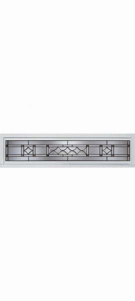 Smooth White Rectangle Transom with London glass