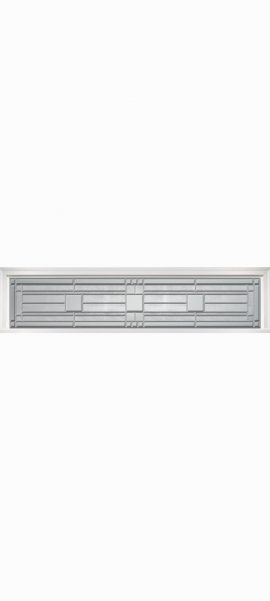 Smooth White Rectangle Transom with Monterey glass