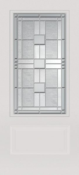 Smooth White 1 Panel 3/4 Lite with Monterey glass
