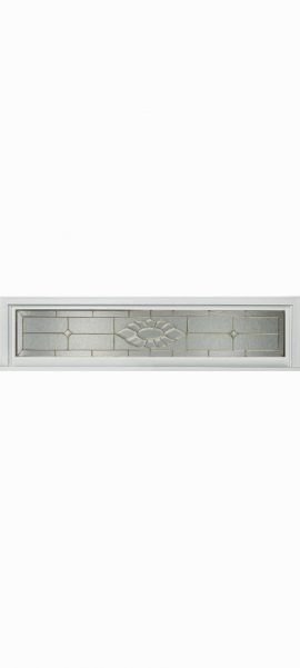 Smooth White Rectangle Transom with Princess glass