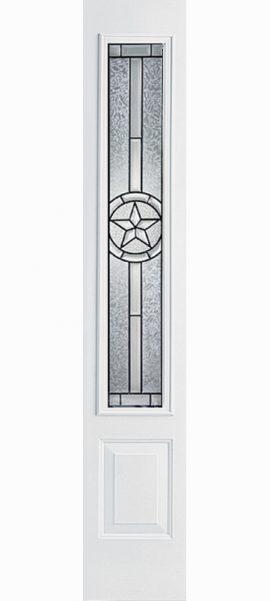 Smooth White 3/4 Sidelite with Radiant Star glass