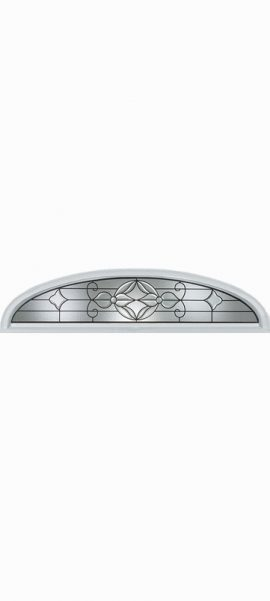 Smooth White Ellipse Transom with Renfield glass