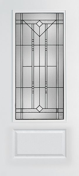 Smooth 1 Panel 3/4 Lite with Riverwood glass