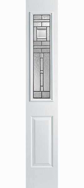 Smooth White 1/2 Sidelite with Vintage Craftsman glass