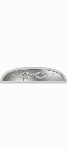 Smooth White Ellipse Rectangle with Windsor glass