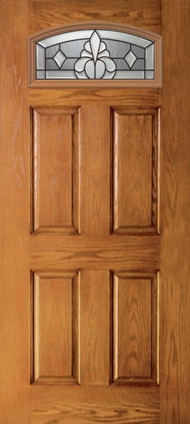 Oak Grain 4 Panel Camber Top with Windsor glass