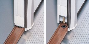On French Double Door Systems, Astragals are locked and unlocked with fingertip adjustments.