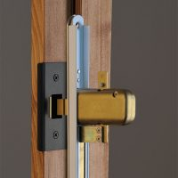 Patented strike rollers and latches draw the door into perfect alignment with the jamb for a tight seal with  no deflection.